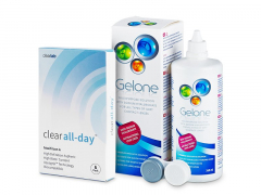 Clear All-Day (6lenses) +GeloneSolution 360ml