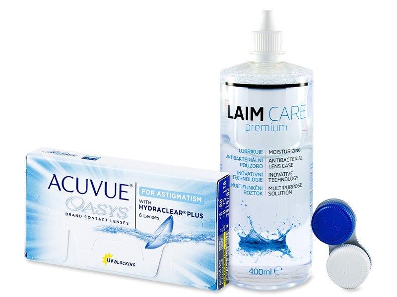 Acuvue Oasys for Astigmatism (6lenses) +Laim-CareSolution 400ml
