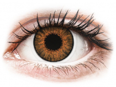 Brown Honey contact lenses - natural effect - power - Air Optix (2 monthly coloured lenses)