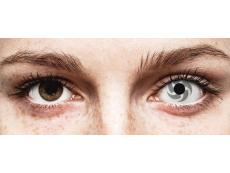 White and Grey Blade contact lenses - ColourVue Crazy (2 coloured lenses)