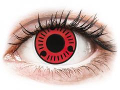 Red Sasuke contact lenses - ColourVue Crazy (2 coloured lenses)
