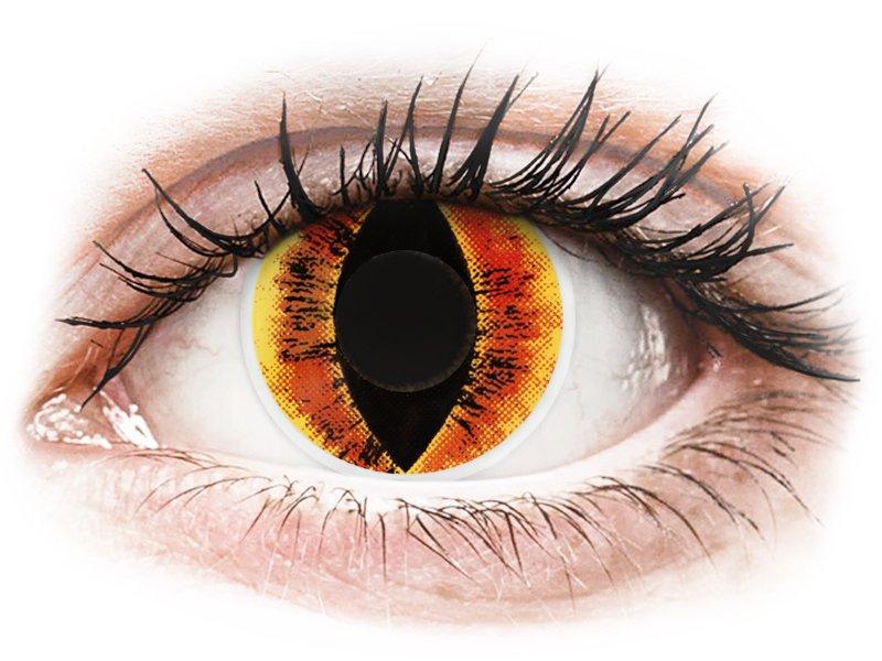Orange Saurons Eye contact lenses - ColourVue Crazy (2 coloured lenses)