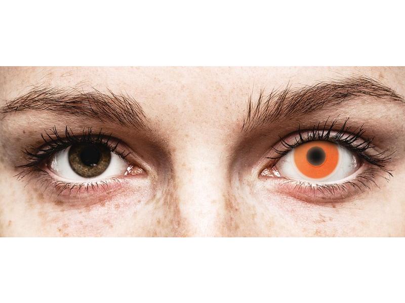 Orange Glow contact lenses - ColourVue Crazy (2 coloured lenses)
