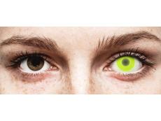 Yellow Glow contact lenses - ColourVue Crazy (2 coloured lenses)