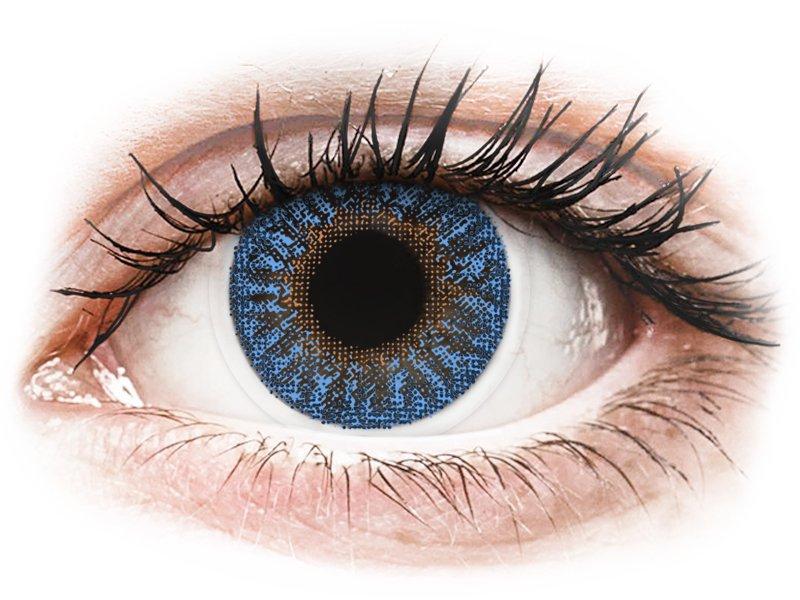 Blue True Sapphire contact lenses - TopVue Color (2 monthly coloured lenses)