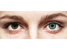 Blue Aqua Glamour contact lenses - power - ColourVue (2 coloured lenses)