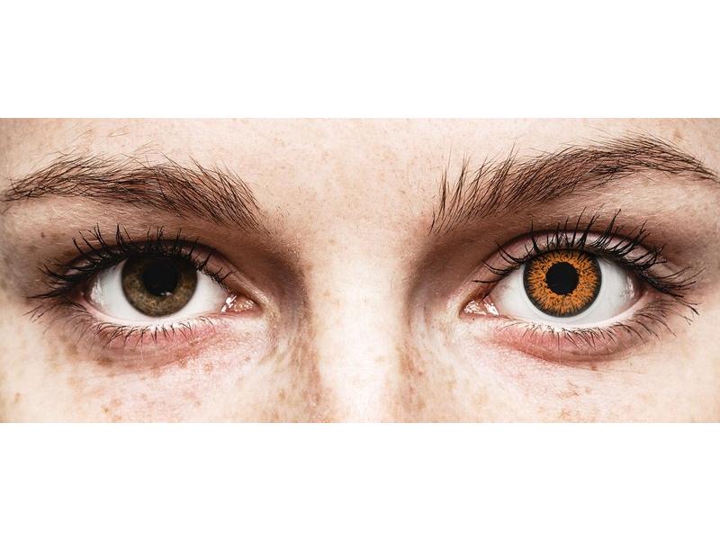Honey Glamour contact lenses - power - ColourVue (2 coloured lenses)