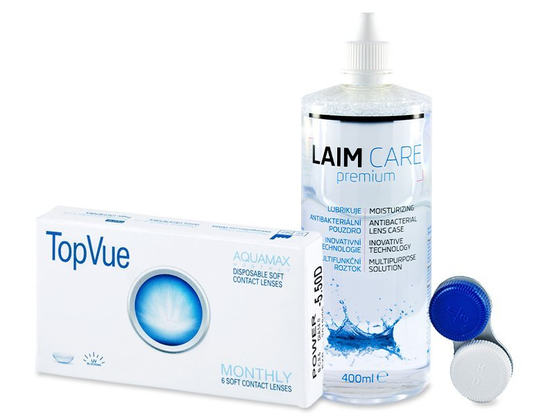 TopVue Monthly (6lenses) + Laim Care Solution 400 ml