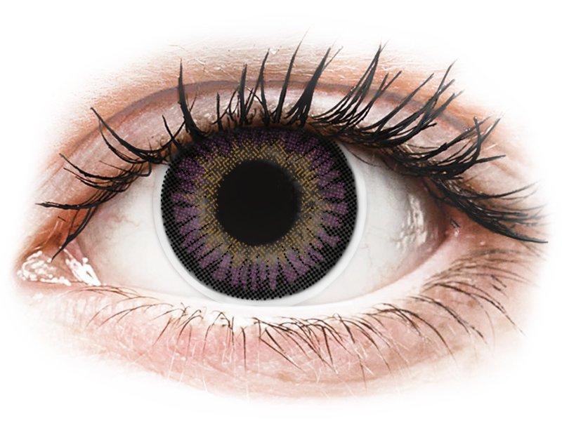 Violet 3 Tones contact lenses - ColourVue (2 coloured lenses)