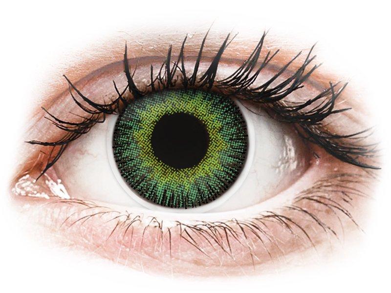Green Yellow Fusion contact lenses - ColourVue (2 coloured lenses)