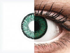Green Amazon contact lenses - SofLens Natural Colors (2 monthly coloured lenses)