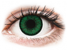 Green Emerald contact lenses - SofLens Natural Colors - Power (2 monthly coloured lenses)