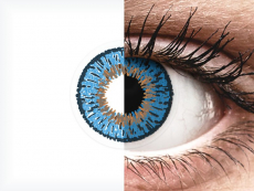Dark Blue contact lenses - Expressions Colors - Power (1 monthly coloured lens)