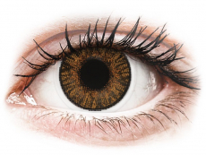 Brown Honey contact lenses - FreshLook ColorBlends - Power (2 monthly coloured lenses)