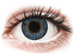 True Sapphire contact lenses - FreshLook ColorBlends - Power (2 monthly coloured lenses)