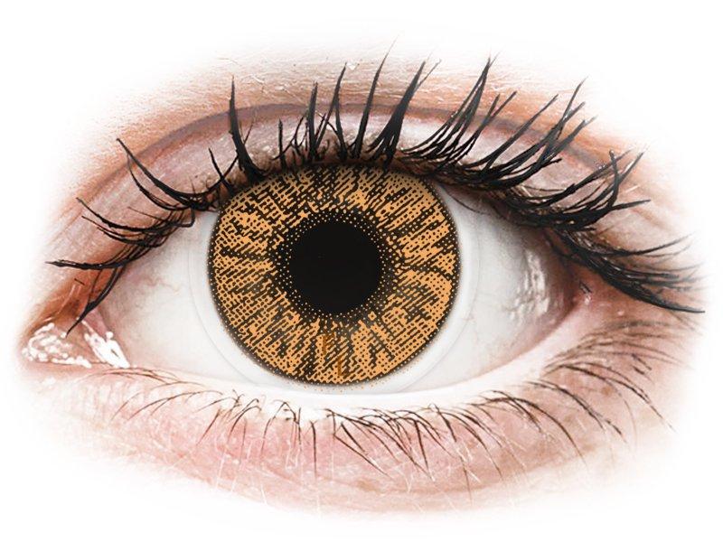 Hazel contact lenses - FreshLook Colors - Power (2 monthly coloured lenses)