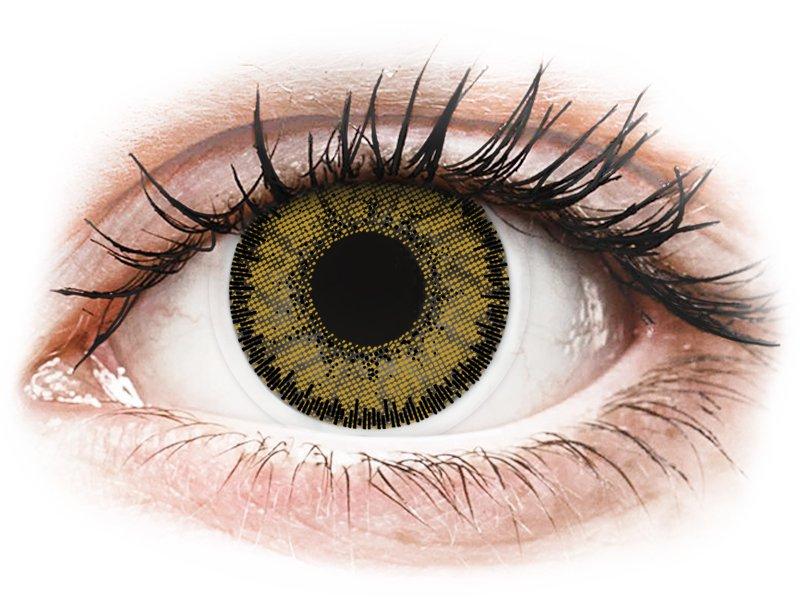 Dark Hazel contact lenses - SofLens Natural Colors (2 monthly coloured lenses)