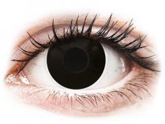 Black BlackOut contact lenses - ColourVue Crazy (2 daily coloured lenses)