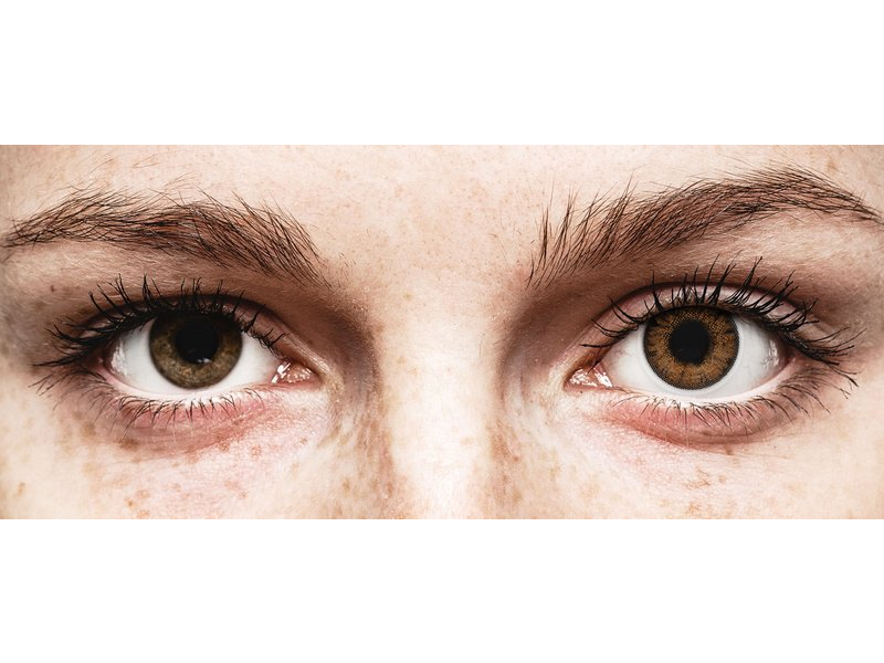 Hazel One Day TruBlends contact lenses - ColourVue - Power (10 coloured lenses)
