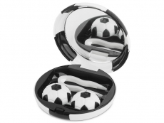 Lens Case with mirror Football - black