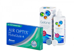 Air Optix plus HydraGlyde for Astigmatism (6 lenses) + Gelone Solution 360 ml
