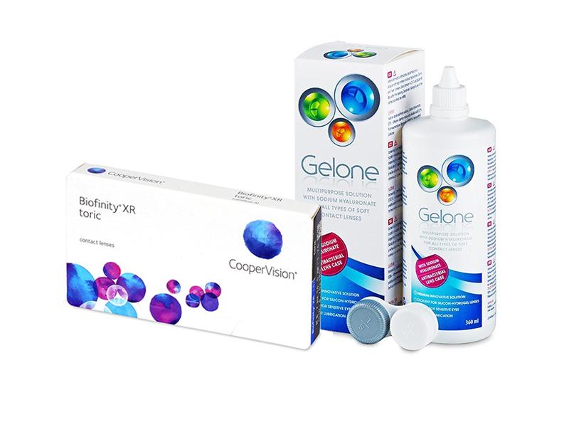 Biofinity XR Toric (3 lenses) + Gelone Solution 360 ml