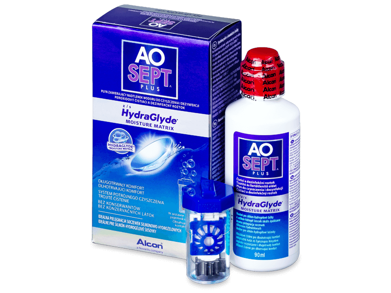 AO SEPT PLUS HydraGlyde Solution 90ml