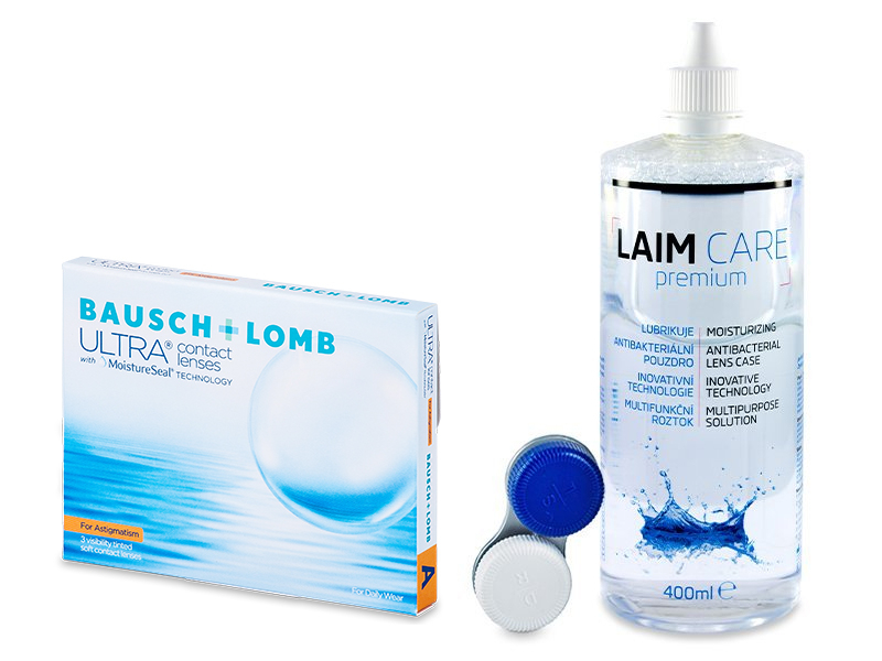 Bausch + Lomb ULTRA for Astigmatism (3 lenses) + Laim-Care Solution 400 ml