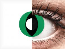 CRAZY LENS - Cat Eye Green - plano (2 daily coloured lenses)