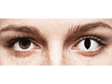 CRAZY LENS - Cat Eye White - plano (2 daily coloured lenses)