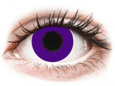 CRAZY LENS - Solid Violet - power (2 daily coloured lenses)