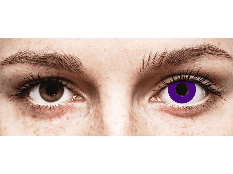 CRAZY LENS - Solid Violet - plano (2 daily coloured lenses)