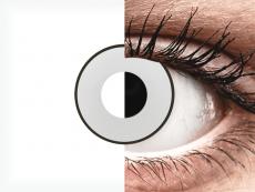 CRAZY LENS - White Black - plano (2 daily coloured lenses)