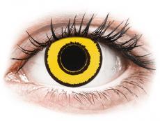CRAZY LENS - Yellow Twilight - plano (2 daily coloured lenses)