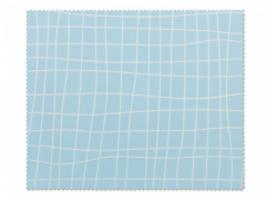 Cleaning cloth for glasses - light blue grid