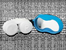 Lens case with carbiner - blue