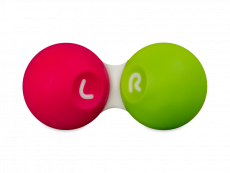 Contact lens case - Pink & green