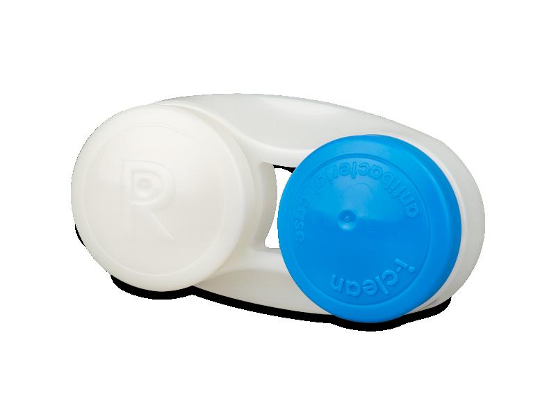 Antibacterial lens case - blue