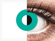 CRAZY LENS - Solid Turquoise - plano (2 daily coloured lenses)