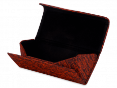 Red case for glasses - Brindle