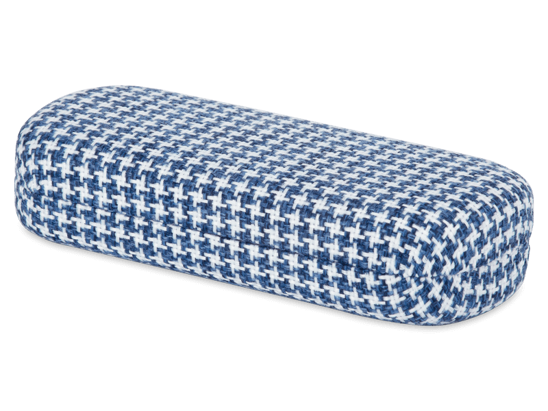 Glasses case - Rooster blue & white