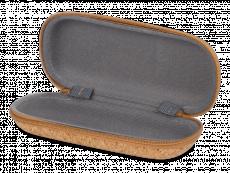 Zip-up cork case for glasses
