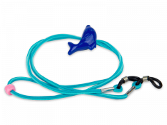 Cord for glasses in blue – dolphin